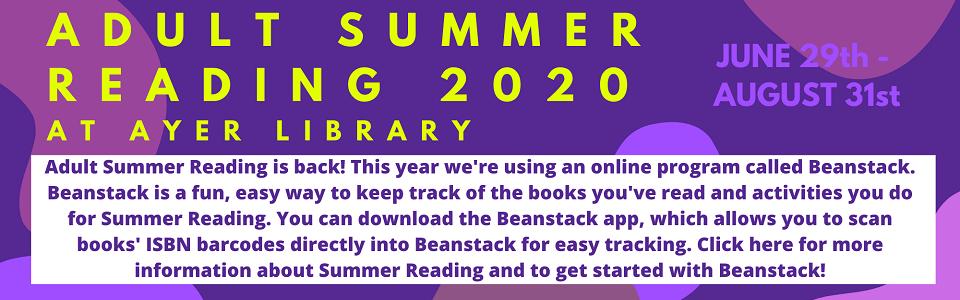 Summer Reading Adult 2020