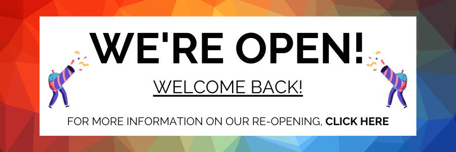 WE'RE OPENwebsite