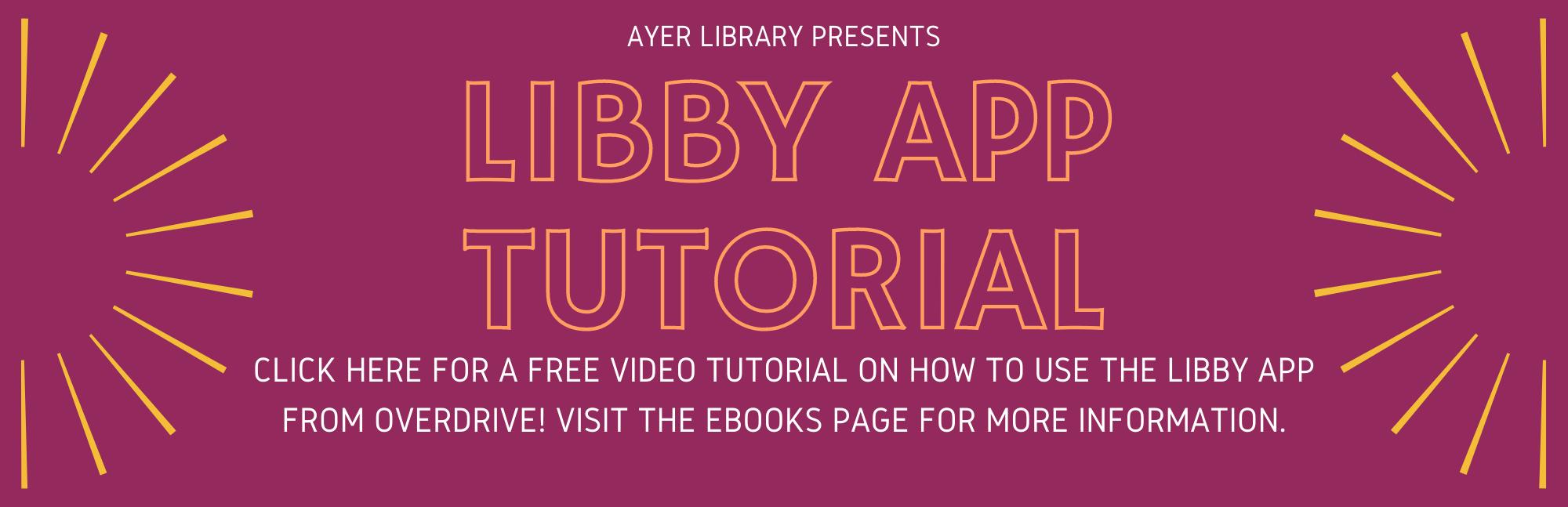 Libby App tutorial
